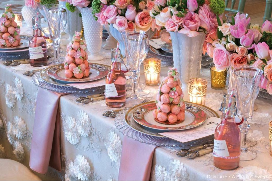 Rental table linen is a great alternative to buying vintage designs.