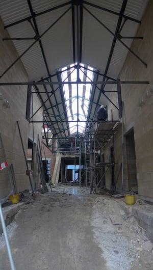 Märraum Architects_Penryn_Warehouse_Construction_entrance