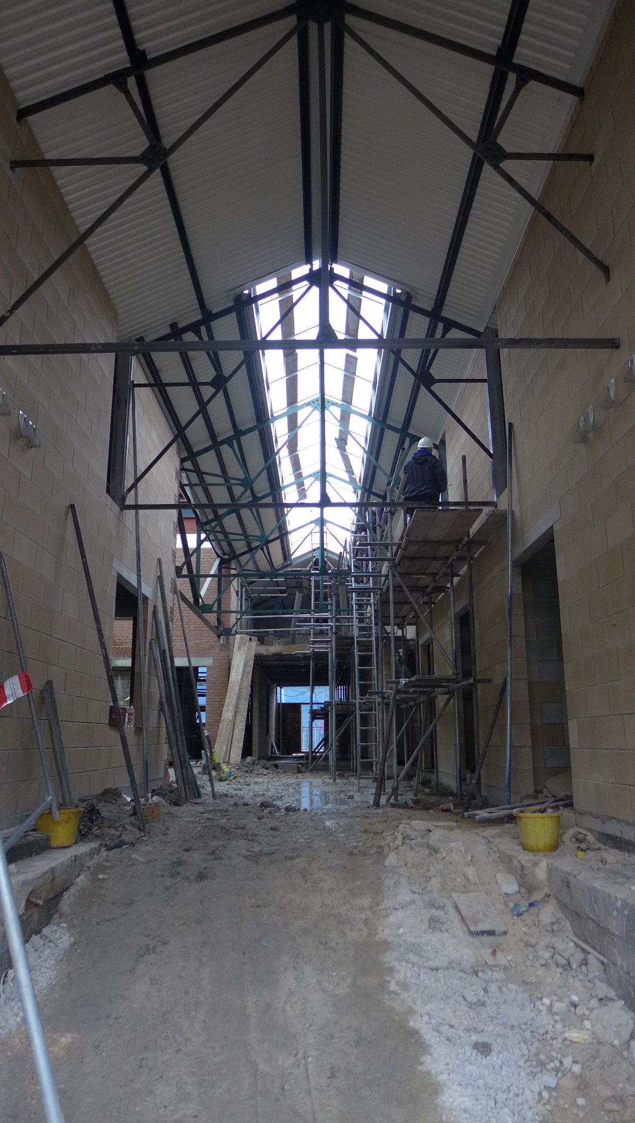 Märraum Architects_Penryn_Warehouse_Construction_entrance