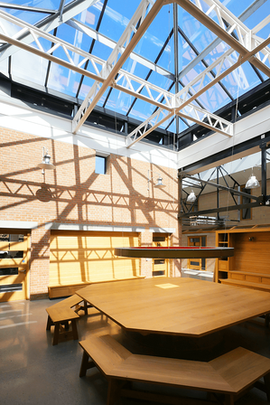 Märraum Architects_Penryn_Warehouse_atrium daylight