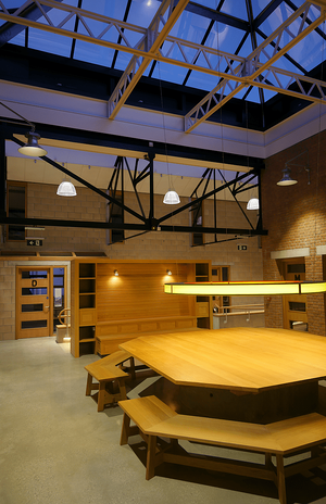 Märraum Architects_Penryn_Warehouse_evening shot internal