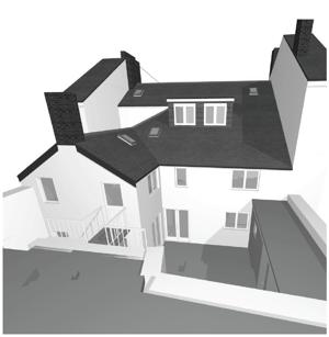 Märraum Architects_Falmouth_full renovation_rear cgi