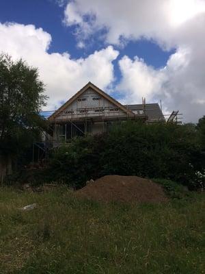 Märraum Architects_Falmouth_Loft conversion_construction_gable end