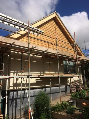 Märraum Architects_Falmouth_Loft conversion_construction_scaffold