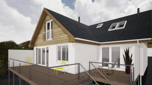 Märraum Architects_Falmouth_Loft conversion_balcony cgi