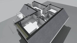 Märraum Architects_Falmouth_Loft conversion_model roof