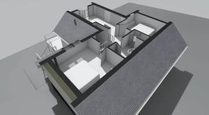 Märraum Architects_Falmouth_Loft conversion_model roof