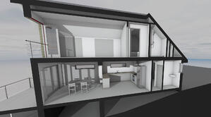 Märraum Architects_Falmouth_Loft conversion_model section