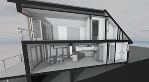 Märraum Architects_Falmouth_Loft conversion_model section