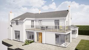 Märraum Architects_Feock_extension_front external cgi