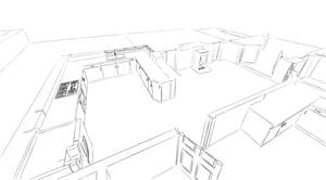 Märraum Architects_Feock_extension_ground floor model