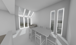Märraum Architects_Falmouth_Loft extension_dining cgi