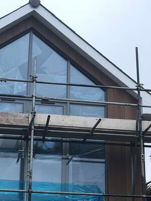Märraum Architects_Falmouth_full house renovation_construction_gable end