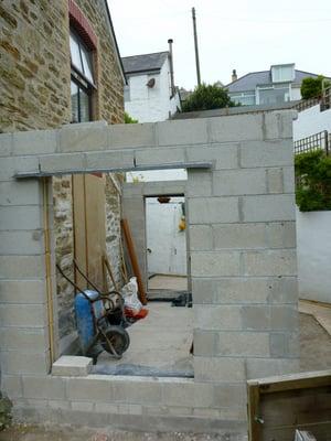 Märraum Architects_Perranporth_full renovation_construction_block work