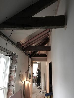 Märraum Architects_Falmouth_Town house renovation_construction_hall