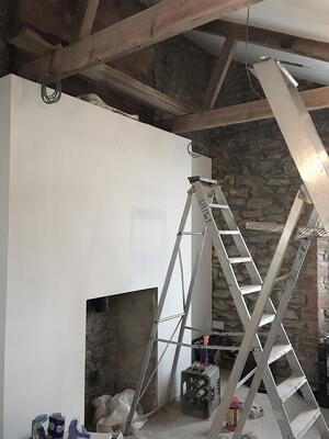 Märraum Architects_Falmouth_Town house renovation_construction_plastering