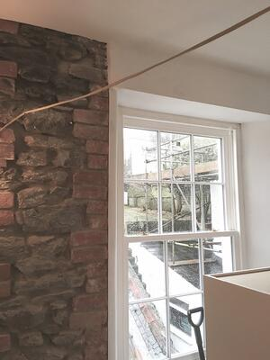 Märraum Architects_Falmouth_Town house renovation_construction_repointing