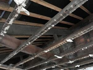 Märraum Architects_Falmouth_Town house renovation_construction_roof structure