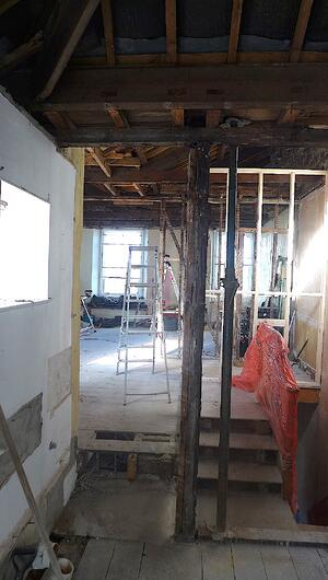 Märraum Architects_Falmouth_Town house renovation_construction_strip out