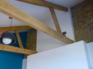 Märraum Architects_Falmouth_Town house renovation_exposed trusses