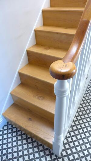 Märraum Architects_Falmouth_Town house renovation_stair detail