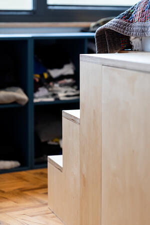 Märraum Architects_Chapel Porth_Full House renovation_Bedroom steps