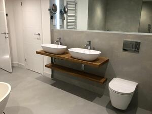 Märraum Architects_St Just_new build_finished_double sink bathroom