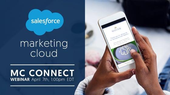 Person registering for Marketing Cloud webinar.