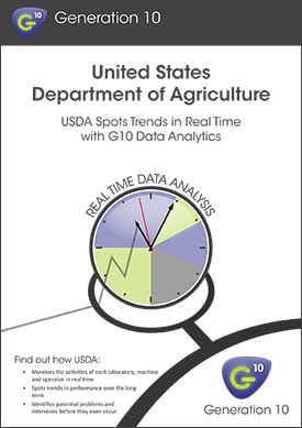 USDA: Generation 10 Gives Us Real-Time Data Analytics, Visualisation