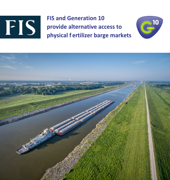 FIS and Generation 10 provide alternative access to physical fertilizer barge markets