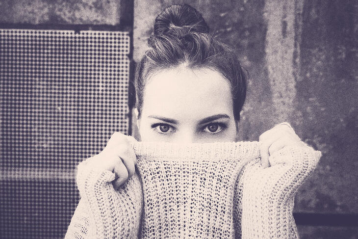 woman with sweater