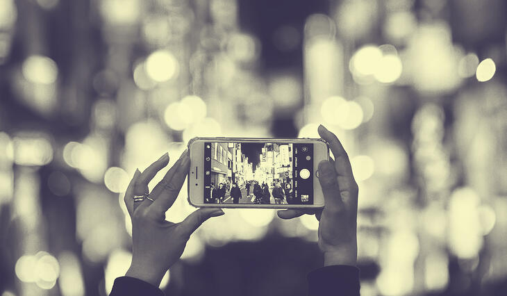 Taking a picture with phone