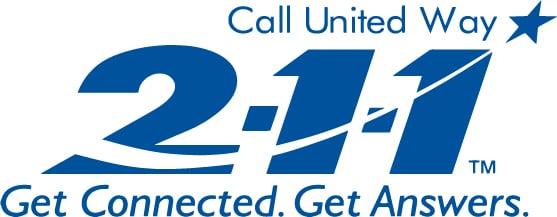 2-1-1 logo - Blue
