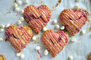 Raspberry White Chocolate Heart Pies