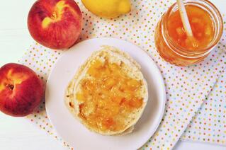 Peach Maple Whiskey Jam