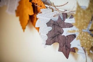 Fall Book Garland