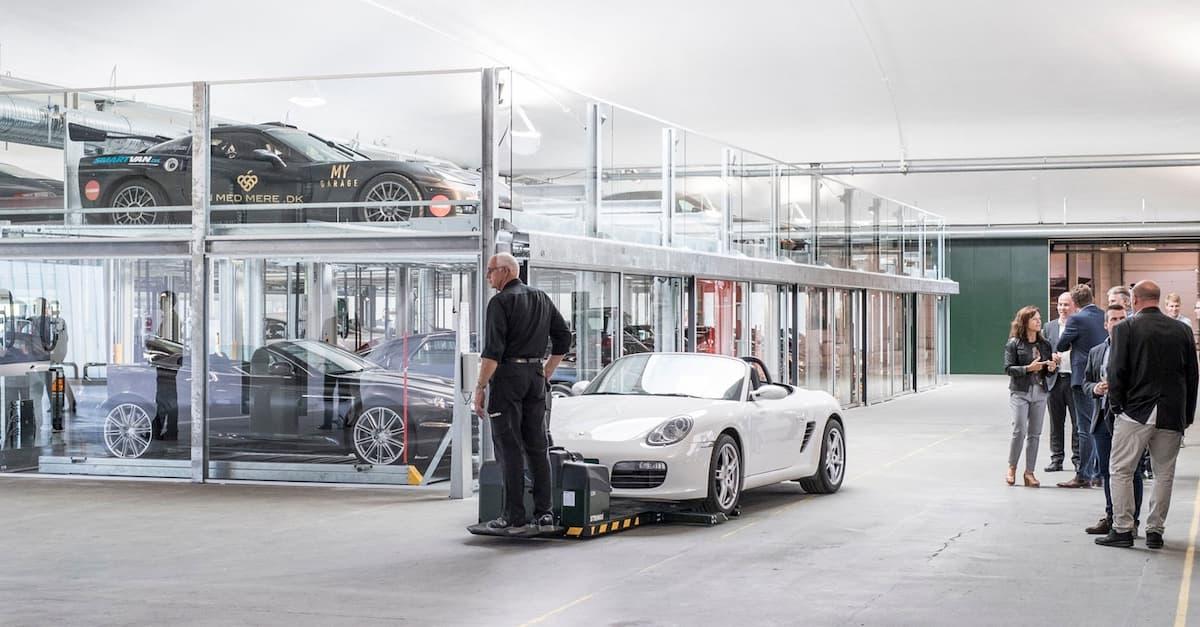 Stringo Car Mover at My Garage in Denmark