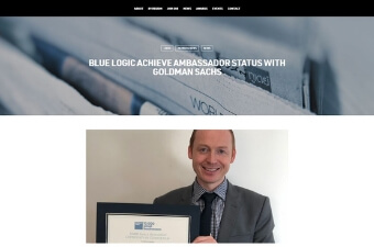 Blue Logic Achieve Ambassador Status with Goldman Sachs