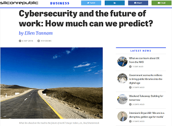 Cybersecurity and The Future of Work: How Much Can We Predict?