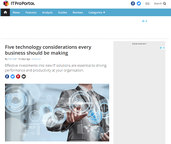 Five technology considerations every business should be making