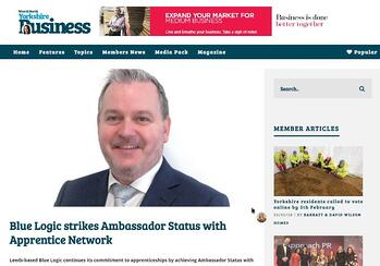 Blue Logic strikes Ambassador Status with Apprentice Network