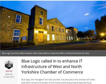 Blue Logic called in to enhance IT infrastructure of West and North Yorkshire Chamber of Commerce