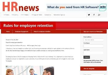 Rules for employee retention