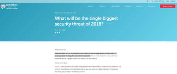 What will be the biggest security threat of 2018?