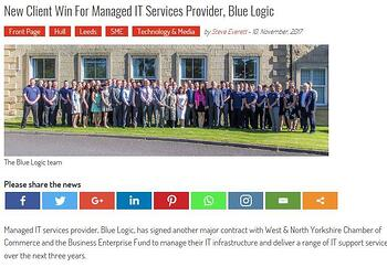 New client win for Managed IT Services provider, Blue Logic