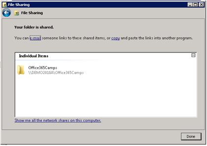 File Sharing Window