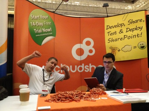 CloudShare Booth at SP TechCon