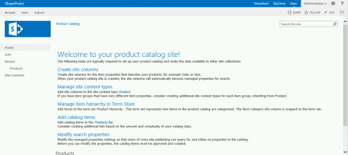 Sharepoint templates site templates for sharepoint 2013 for Sharepoint 2013 product catalog site template