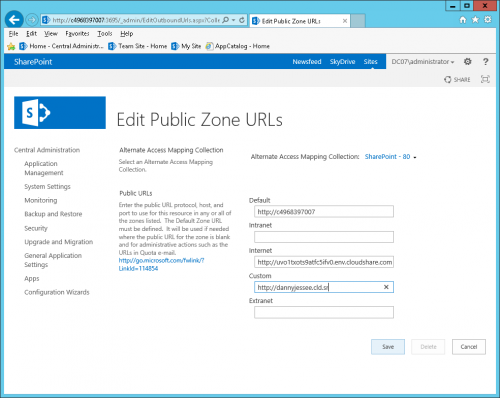 01 - SharePoint 2013 Edit public zone URLs
