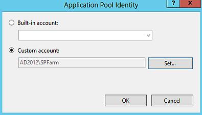 07 - SecurityTokenServiceApplicationPool reset Identity credentials